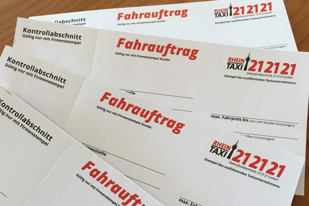 Geschäftskunden Bestellung Fahraufträge Rechnung