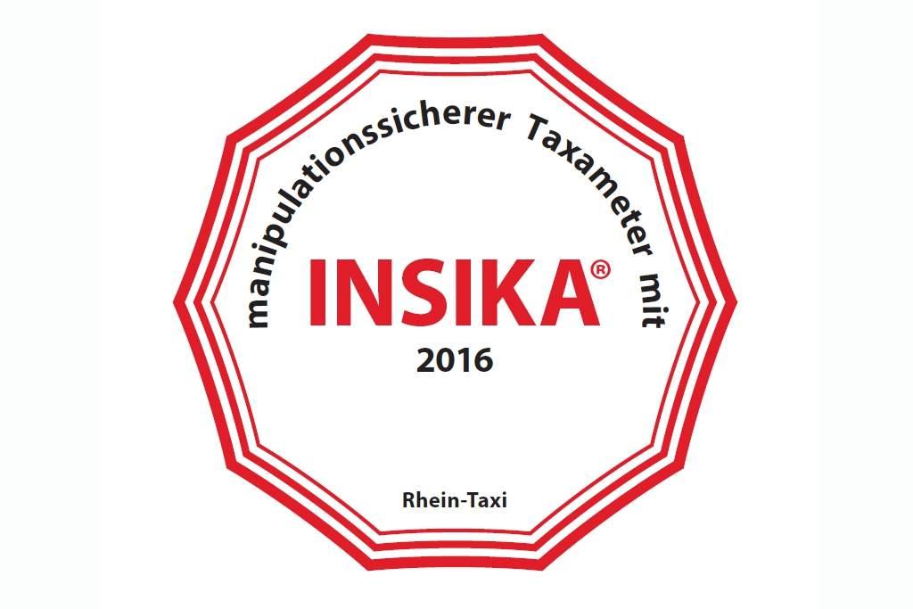 Rhein-Taxi Fahrzeuge und Insika-Aufkleber